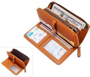 Leather Card Holder Zipper Coin Purse