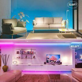 65.6' LED Bluetooth Strip Lights w/ Remote