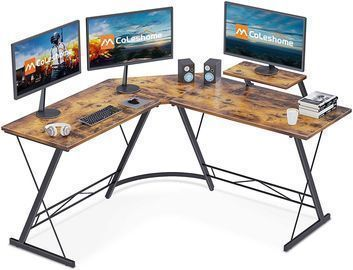 L Shaped Desk w/ Monitor Stand