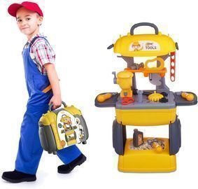 2 in 1 Kids Tool Play Set