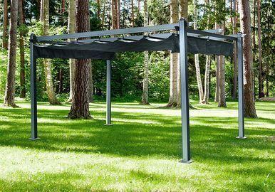 Hanover 13x10-Ft. Aluminum Pergola w/ Adjustable Canopy