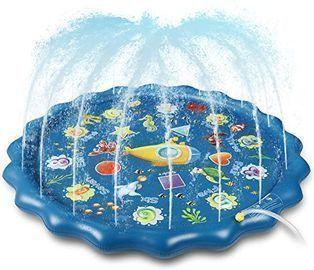 Winique 68 Splash Pad, Sprinkler Play Mat & Wading Pool