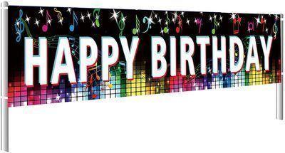 118 Tik Tok Happy Birthday Banner