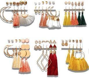 Tassel Earrings Set - 36 Pairs