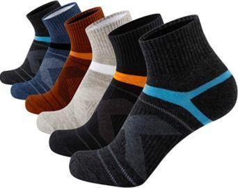 Mens Athletic Ankle Socks - 6-Pack