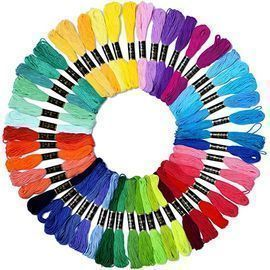 Embroidery Floss Rainbow Color, 50 Skeins
