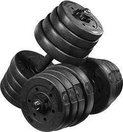 66lb Adjustable Solid Dumbbell Weight Set