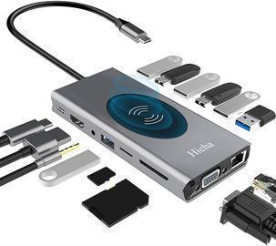 USB C Hub, 15-in-1 Docking Station