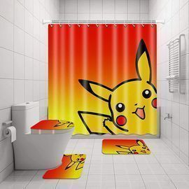 Pokemon Pika-chu Shower Curtain Sets