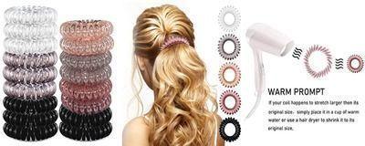 17 Pack - Spiral Hair Ties