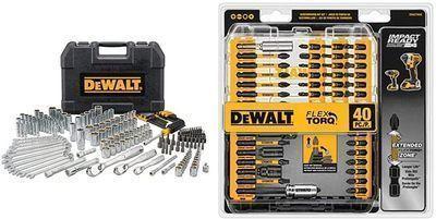 205-Piece DeWalt Mechanics Tool Set + 40-Piece Impact Ready FlexTorq Screw Driving Set
