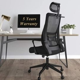 Office Chair with Adjustable Headrest