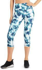 Ideology Tie-Dyed High-Waist Cropped Leggings