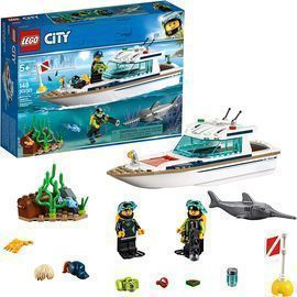 LEGO City Diving Yacht Building Kit (148 Pieces)