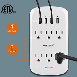 6 Outlet Extender with 4 USB Charging Ports