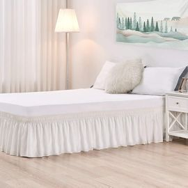 Ivory Queen Size Wrap-Around Bed Skirt