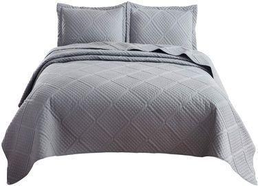 Bedsure Grey 3-Piece Full / Queen Quilt Set