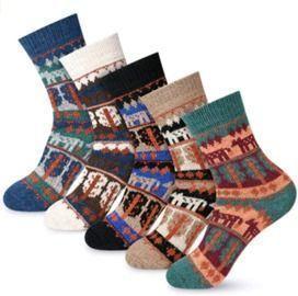 5 Pairs Winter Wool Socks