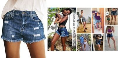 Cut Off Denim Shorts for Women