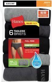 Hanes Men's FreshIQ ComfortSoft Full-Rise Briefs (6-Pack)