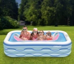 Full-Sized Inflatable Kiddie Pool for Outdoors