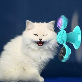 Interactive Windmill Cat Toys with Catnip