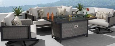 Vistano 4 Piece Fire Conversation Seating Set