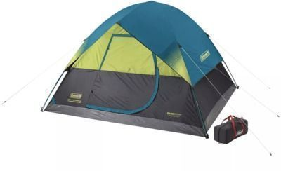 Coleman Dark Room 6-Person Dome Camping Tent with Fast Pitch Setup