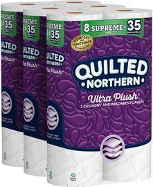 24 Rolls of Quilted Northern Ultra Plush Toilet Paper