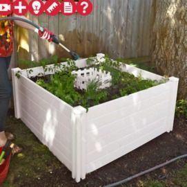 Vita 4x4-Ft. Keyhole Composting Raised Garden Bed