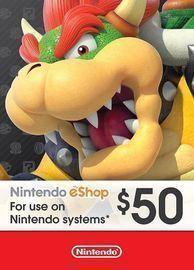 $50 Nintendo eShop Card