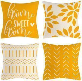 Yellow Pillow Covers 18x18 Set of 4