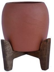 Sonoma Goods for Life Terracotta Planter with Wood Stand