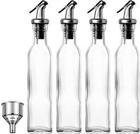 Set of 4 Glass Oil and Dressings Dispensers