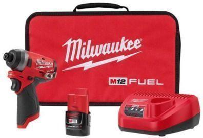 Milwaukee M12 FUEL 12-Volt Lithium-Ion Brushless Cordless 1/4 Hex Impact Driver Kit