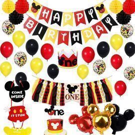 Kinnjas Mickey Mouse Party Supplies Pack