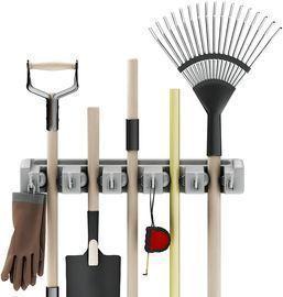 Shovel, Rake and Tool Holder w/ Hooks