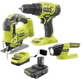 Ryobi ONE+ 18-Volt Cordless Combo Kit (3-Tool) w/ Battery and Charger