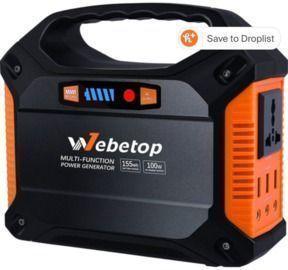 Webetop 155Wh 42,000mAh Portable Power Station