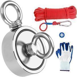 Amazon - 960lb Double Sided Fishing Magnet w/ Rope & Gloves $28.99