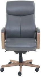 La-Z-Boy Landon Premium Bonded Leather Executive Chair, Gray