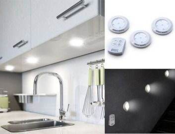 3pk Bright Basics Ultra Thin Wireless LED Puck Light