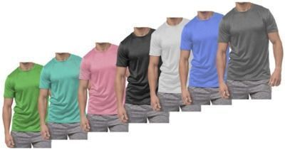 5pk Active Moisture Wicking Dry Fit Crew Neck Shirts