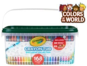 Crayola Crayon and Storage Tub - 168pk