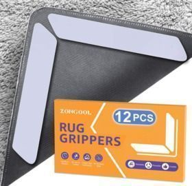 12 PCS Double Sided Non-Slip Rug Grippers