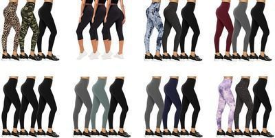 Save 50% Off Select 3 Pack Women's Yoga Leggings