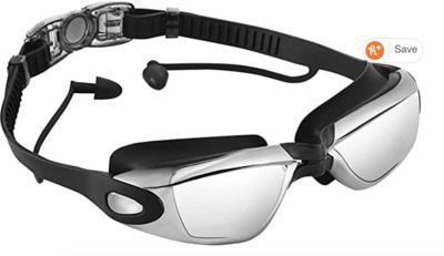 Opkall Adults' Swimming Goggles w/ Earplugs
