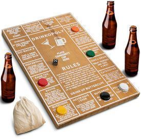 Hammer + Axe Game Wood Drinkopoly Board