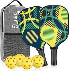 Gonex Set of 2 Pickleball Paddles w/ 4 Pickleball Balls