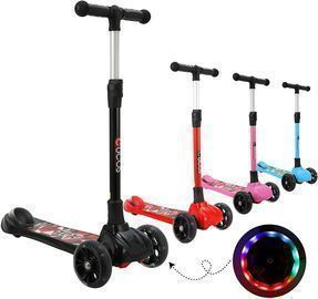 Scooter for Kids with Flashing PU Wheels